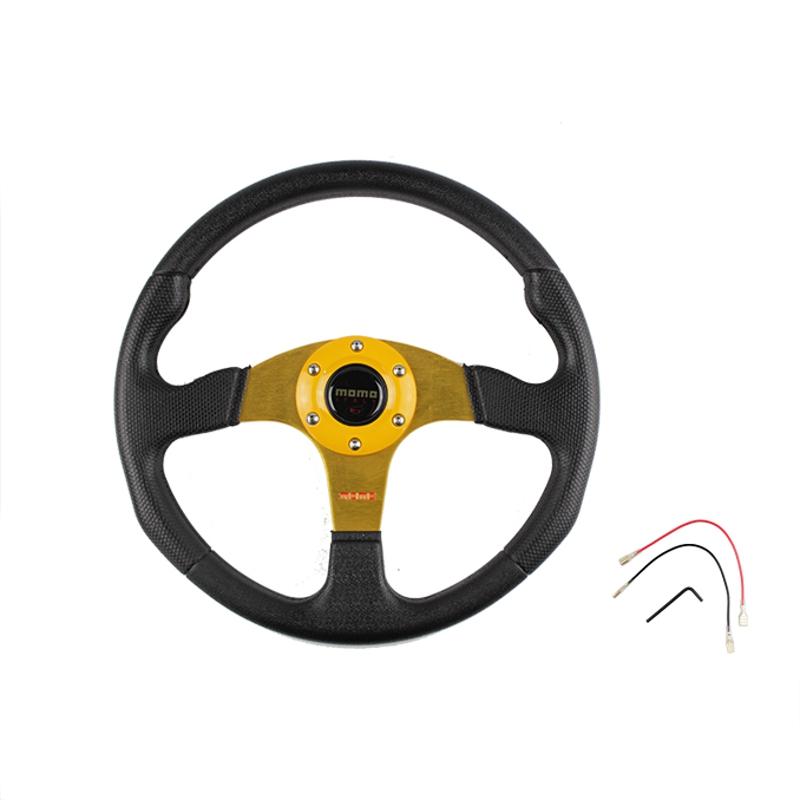 350mm 14 Inch Universal Sport Racing Car PVC Steering Wheel Modified Car Steering Wheel