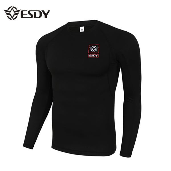 ESDY Outdoor Tactical Sports Thermal Underwear Elastic Fitness Long Sleeves T-shirt