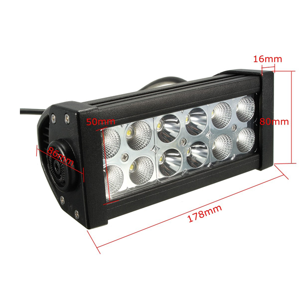 7 Inch 36W Spot Flood LED Work Light Bar for SUV Car Boat 4WD ATV UTE Off Road