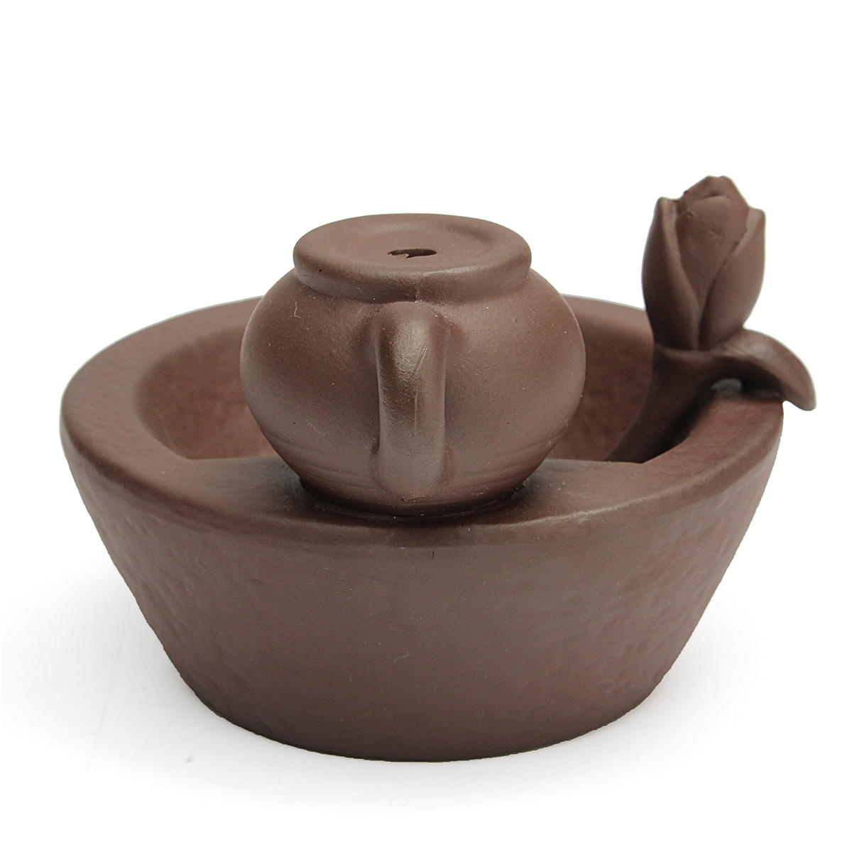Chinese Style Backflow Incense Cone Burner Teapot Home Fragrant Stick Holder Ceremony Feng Shui