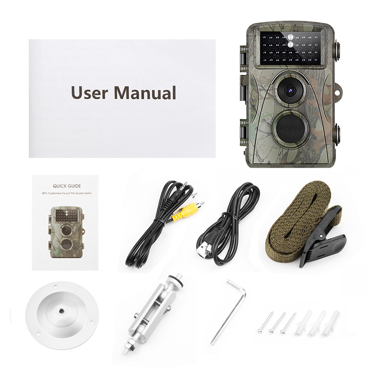 SHOOT XT-453 Hunting Camera 12MP 1080P Full HD Trail Camera Infrared Wildlife Camera with Night Vision 65FT IP56 Waterproof Game Cam for Wildlife Monitoring