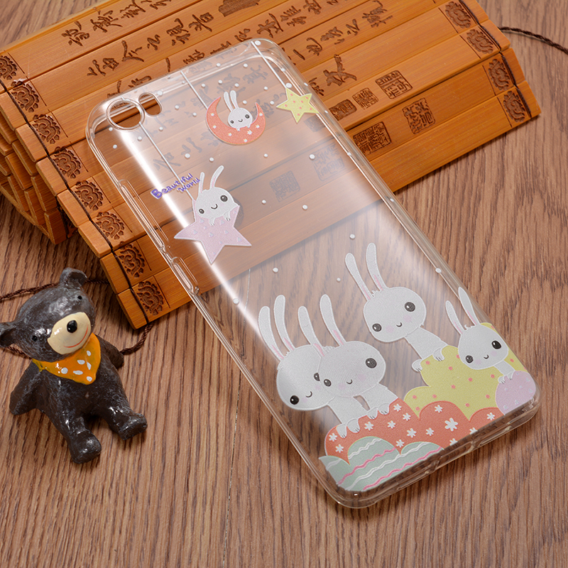 Slim Soft TPU Painted Cartoon 3D Emboss Protective Case For Xiaomi Mi5