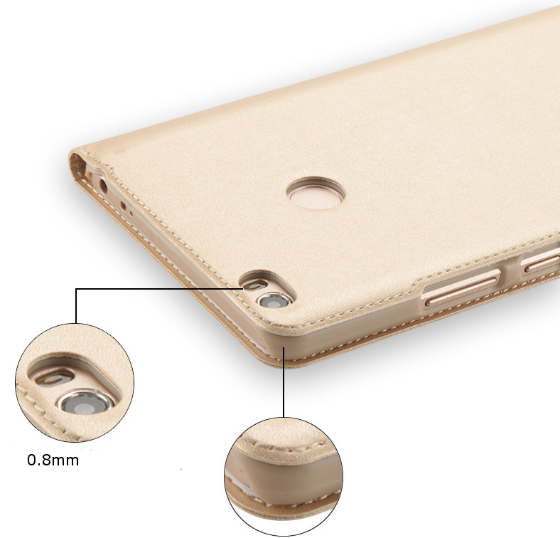 Flip PU Leather Smart View Window Case For Xiaomi Mi MAX
