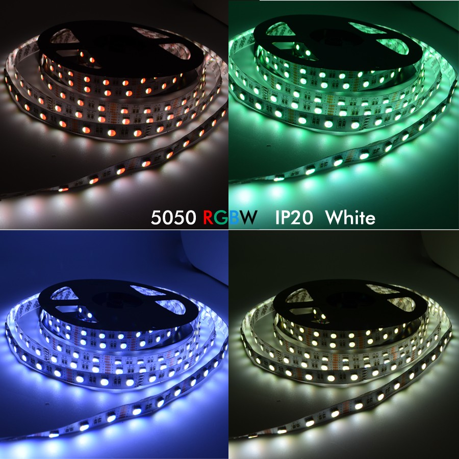 5M RGBW RGBWW 4 In 1 SMD5050 300LEDs Strip Light Non-waterproof Indoor Use DC12V