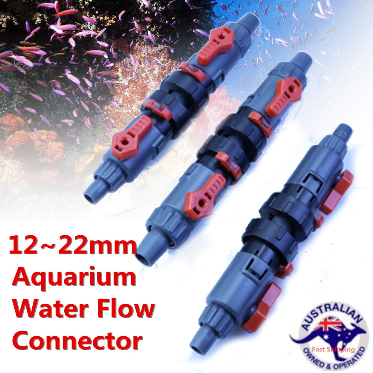Fish Tank Aquarium Quick Release Hose Pipe Connector Water Flow Control Valve Connector Adapter