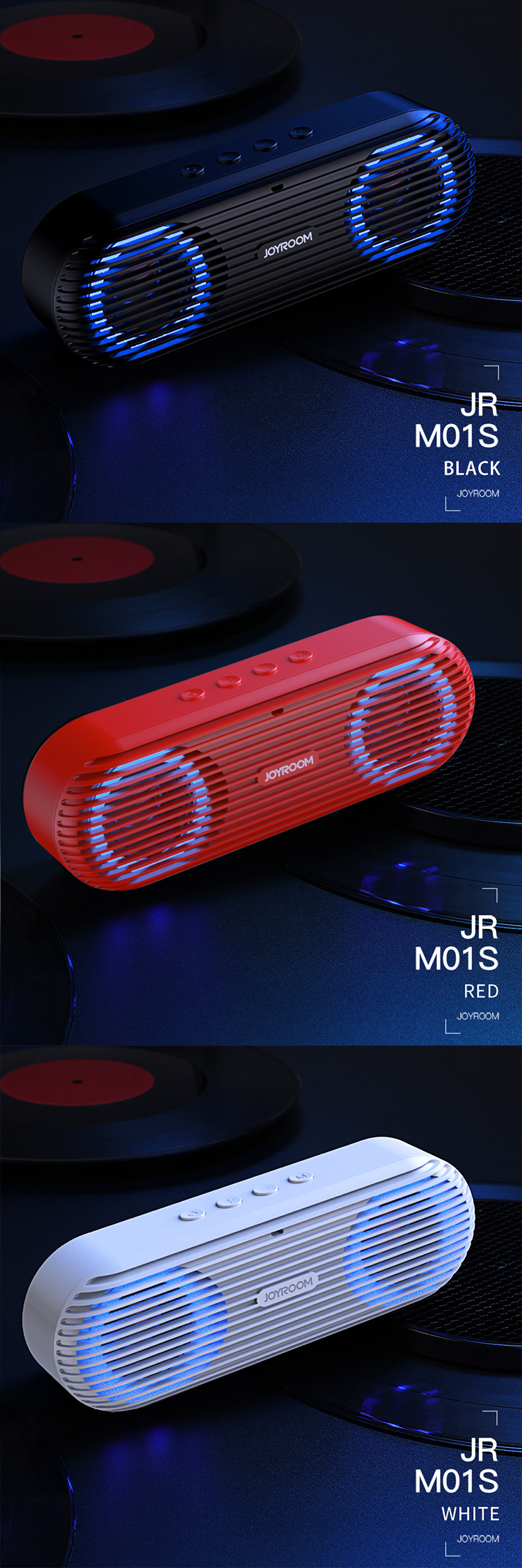 Joyroom JR-M01S Portable 2 In 1 Wireless Blutooth Lamp Speaker Stereo Sound With Revoable Battery