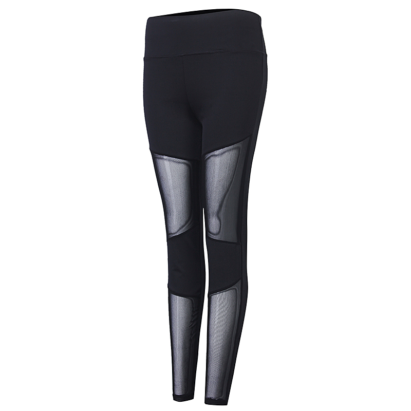 514626525 Leggings de cintura alta elástica collants de malha preta sexy push-up calças  Yoga aptidão