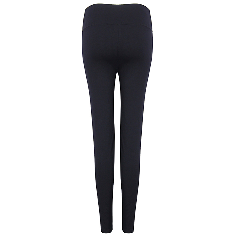 Women Fitness Yoga High-Waisted Leggings Elastic Mesh Tights Black Sexy Push Up Trousers