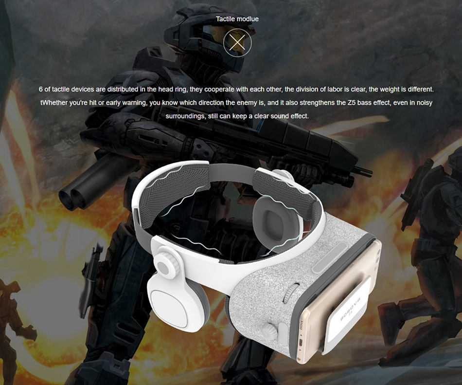 BOBOVR Z5 3D VR Glasses Virtual Reality Headset Cardboard for 4.3-6.0 inch Smartphone