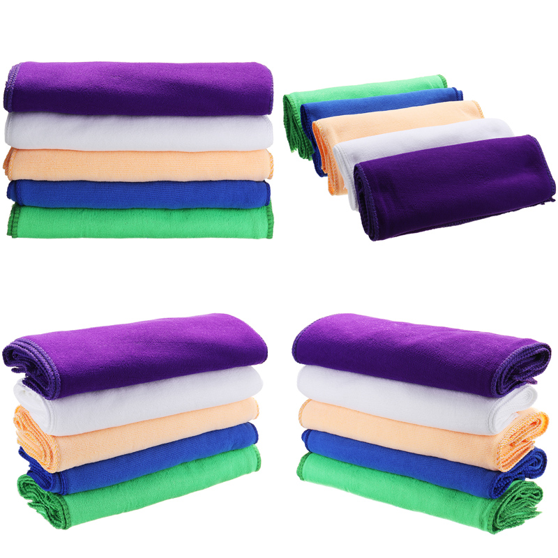 11 Inch 50 Pcs Microfiber Cleaning Cloth Kitchen Camping Wash Dry Clean Polish Cloth Towel