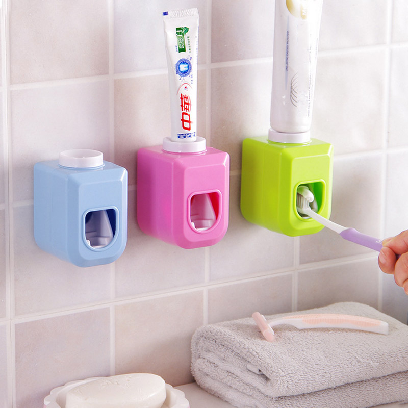 Honana BX-9127 Adhensive Toothpaste Squeezer Distributor Automatic Toothpaste Toothbrush Holder Bathroom Toothbrush Dispenser