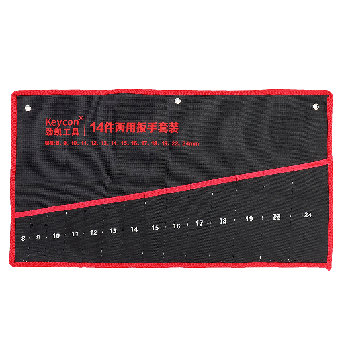Canvas Roll Up Tools Storage Bag 8/12/14 Pocket Spanner Wrench Tool Organizer Pouch