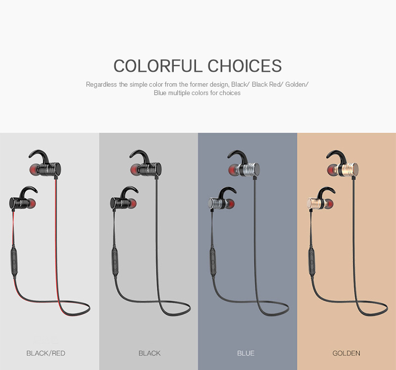 Awei AK7 IPX4 Water-proof Magnetic Adsorption Wireless bluetooth Earphone Headphone for Mobile Phone