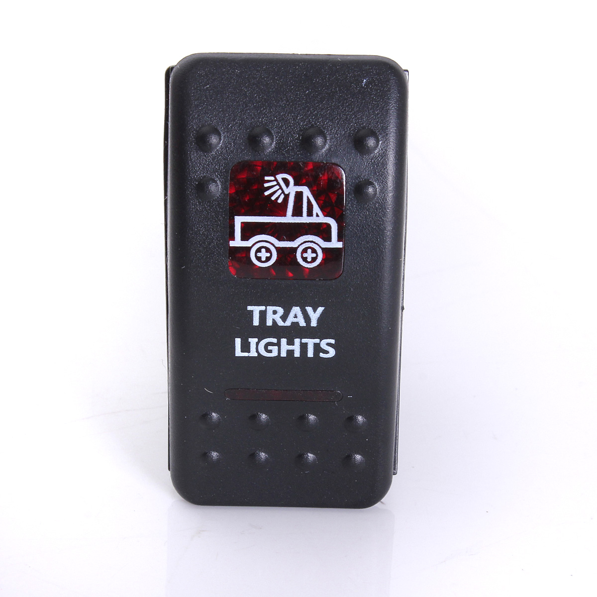 Rocker Switch Narva ARB Carling Style Dual LED Illuminated ON-OFF Roof Light Red