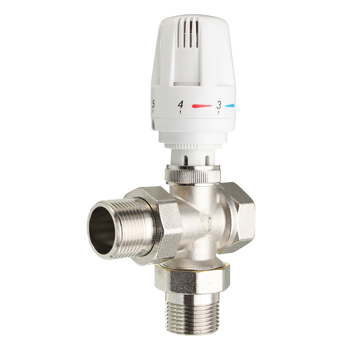G1/2''/G3/4''/G1'' Standard Thermostatic Angled Radiator Brass Valve For Five Temperature Settings