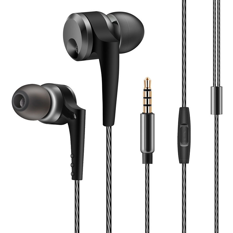 QKZ KD10 Dual-Driver In-Ear 4-unit Wired Earphone Volume Control With Mic For Mobile Phone