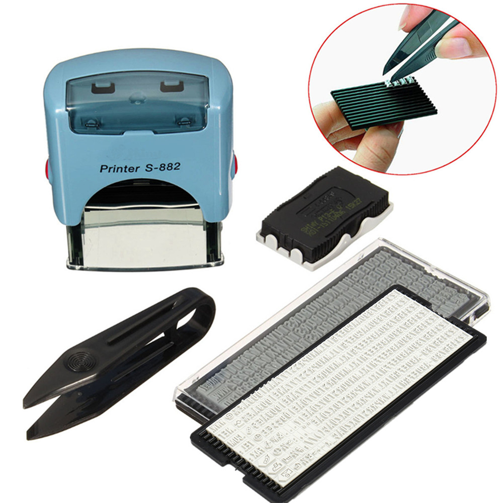 38x14mm S-882 Mini Active Letters Digitals Self Inking Rubber Stamp Seal Office Stationary Business