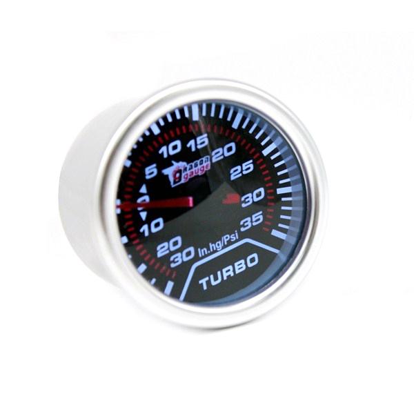 2Inch Car Universal Tinted Tachometer With Pointer Sunglasses Facet White Light