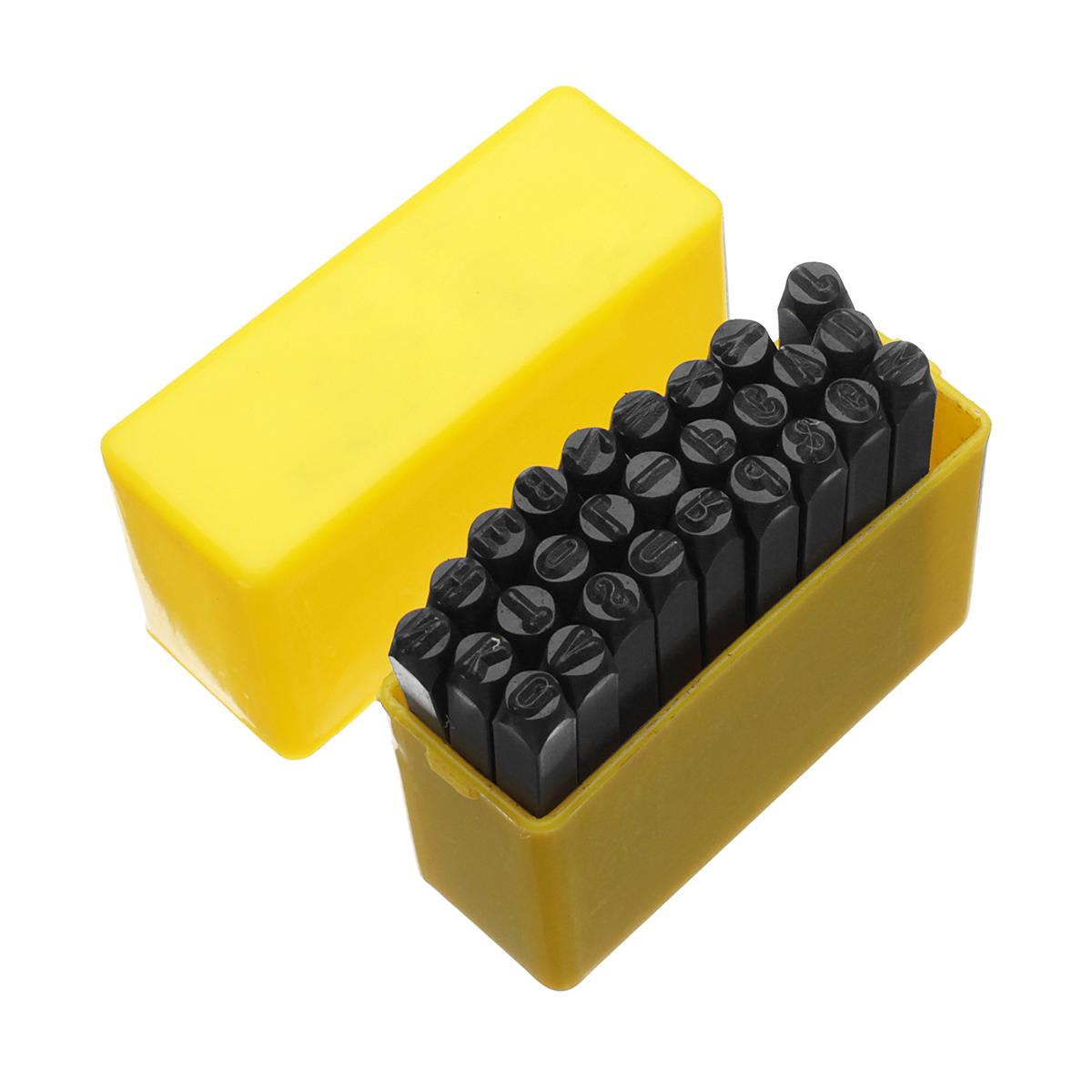 27pcs Alphabet Numbers Set Letter Steel Metal Die Stamp Punches Tool Set