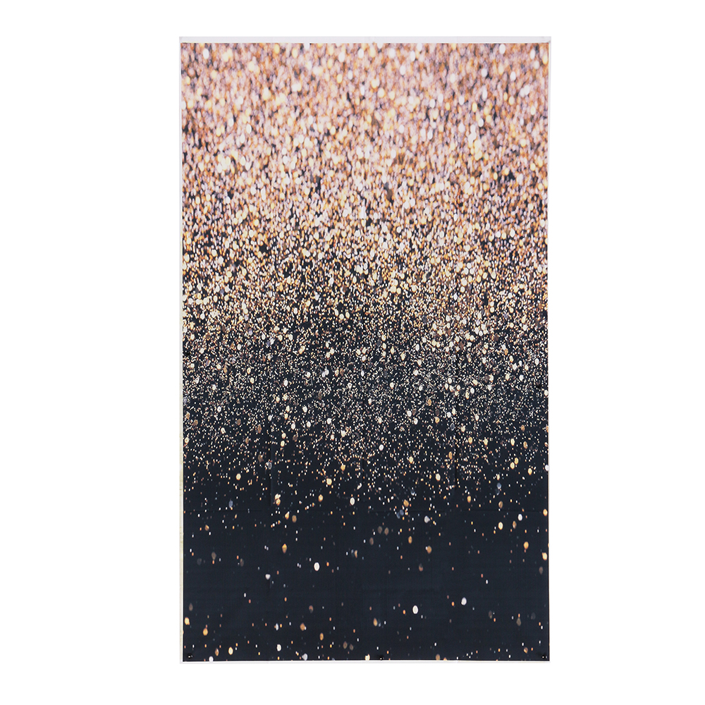 4x6ft/5x7ft/3x5ft Glitter Black Gold Dots Thin Vinyl Ph