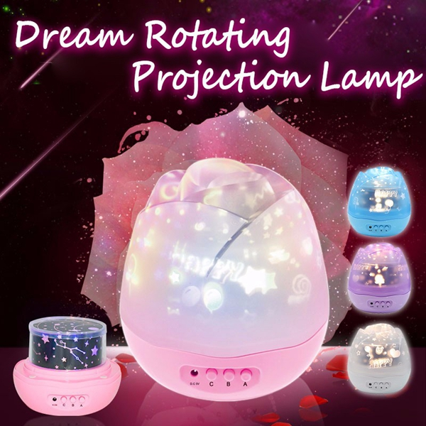 USB 360 Rotating Sky Moon Starry Star LED Projector Night Light Lamp 3 Model
