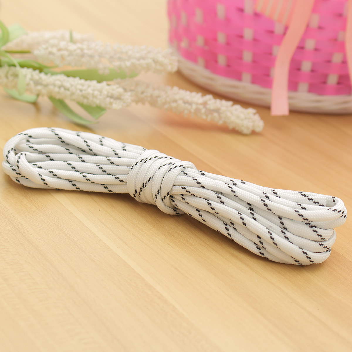 5M 17FT 9-Strand Luminous Nylon Braided Rope Glow In Dark Paracord Parachute Cord 550LB