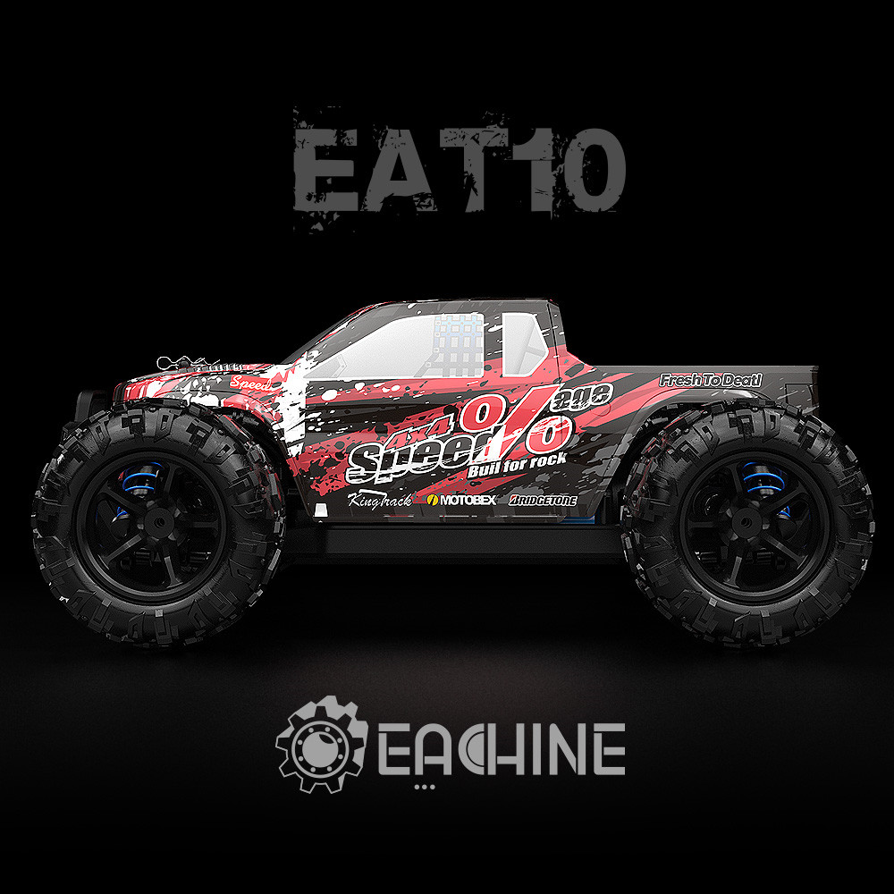 Eachine EAT10 1/18 Brushless RC Car with 2.4GHz Remote Control High Speed 40km/h 4WD Off Road Monster Truck RC Model Vehicle Crawler for Boys Kids and Adults - Photo: 4