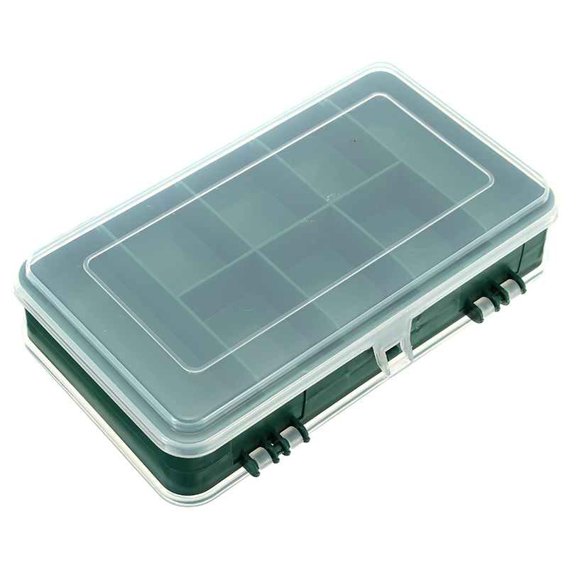 Double Sided Plastic Storage Box Case Screws Parts Components Container Assortment Organizer