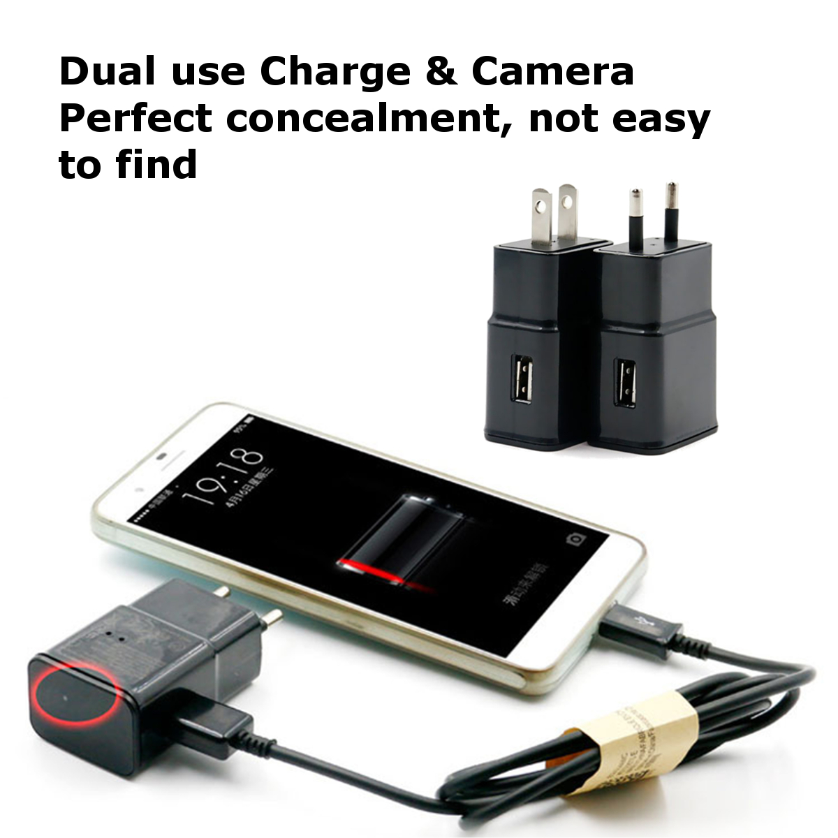 M2 16G HD 1080P Wireless WIFI USB Mini Hidden Camera Wall Charger P2P Camera Plug Camera