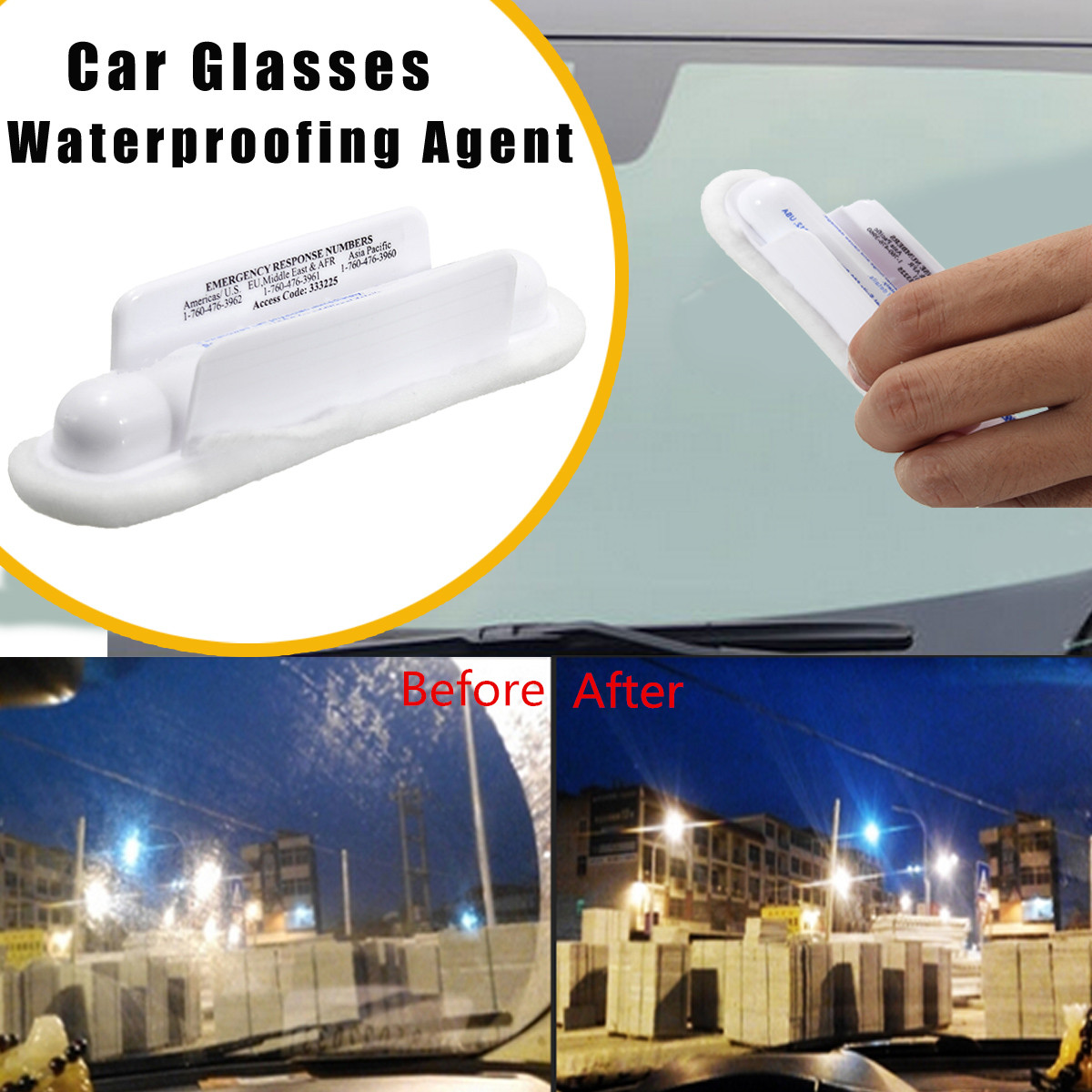 Universal Car Invisible Windshield Wiper Repellent Glass Clear View Cleaner