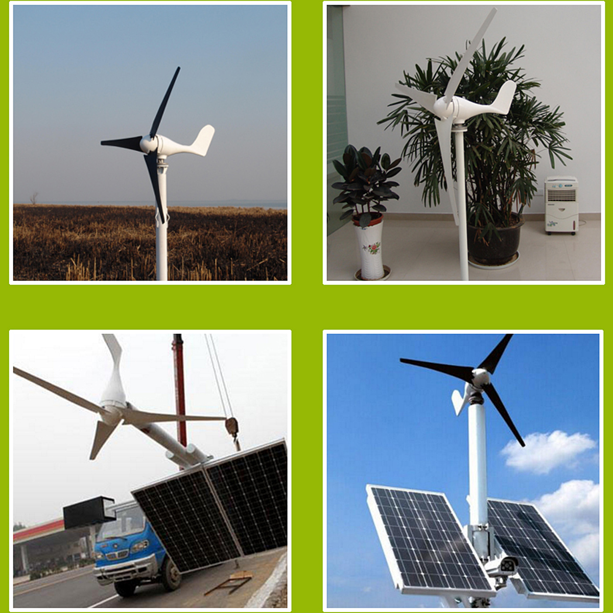 12V/24V 500W Miniature Wind Turbine Generator With Controller 3 Blades Wind Generator