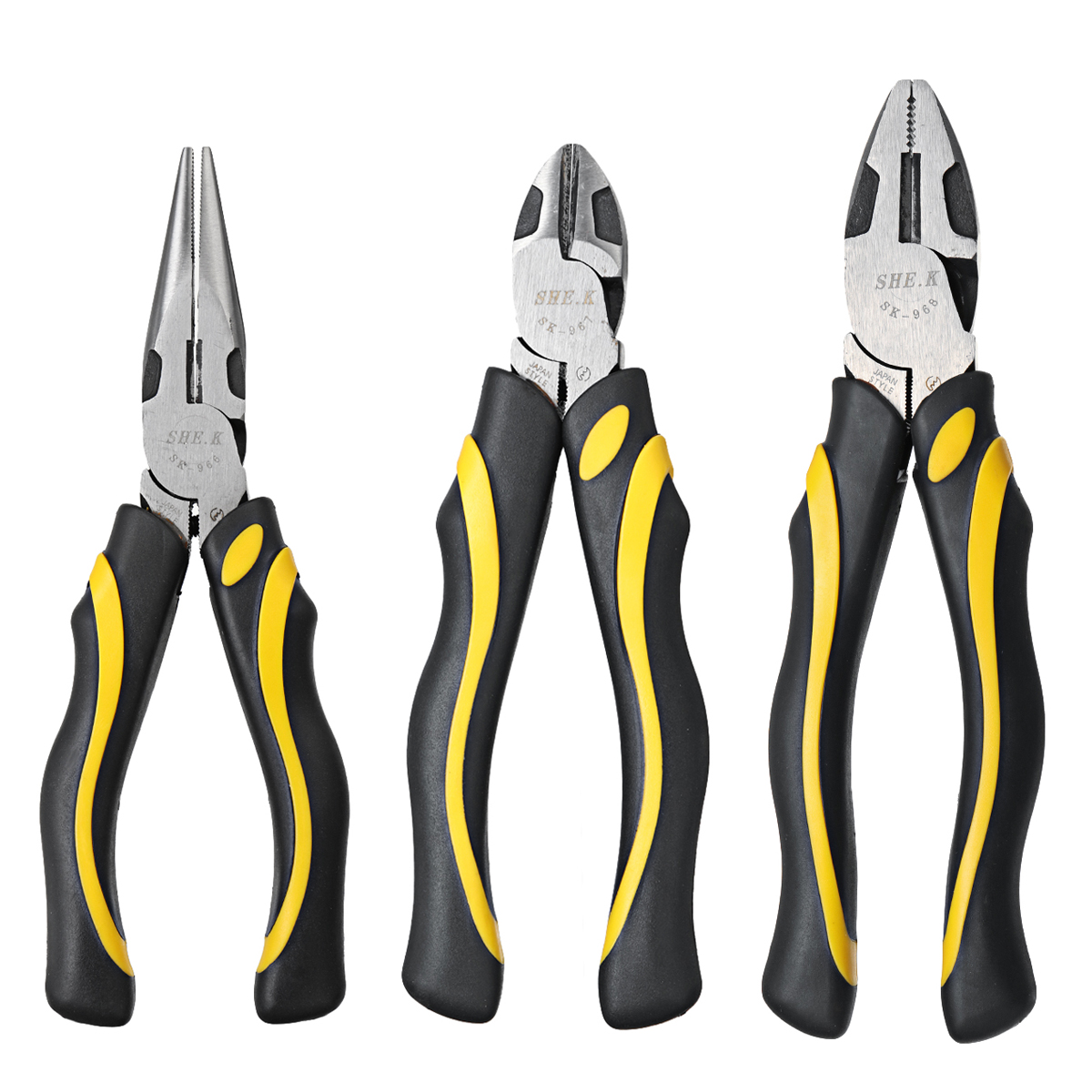1Pc Soft Grip Combination Pliers Set Long Nose Diagonal Cutters Nippers Tool