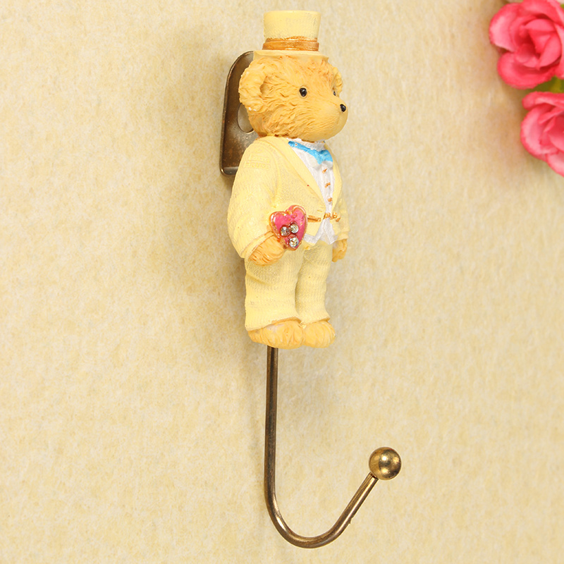 Fairy Tale Bear Jewelry Clothes Wall Hook Home Decoration For Bag Key