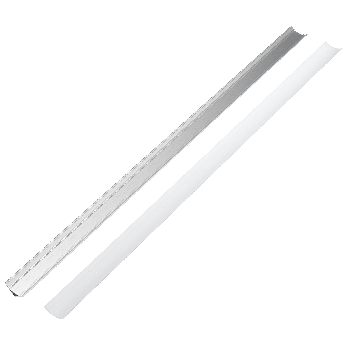 LUSTREON 45CM U/V/YW Style Aluminum Channel Holder For LED Rigid Strip Light Bar Cabinet Lamp
