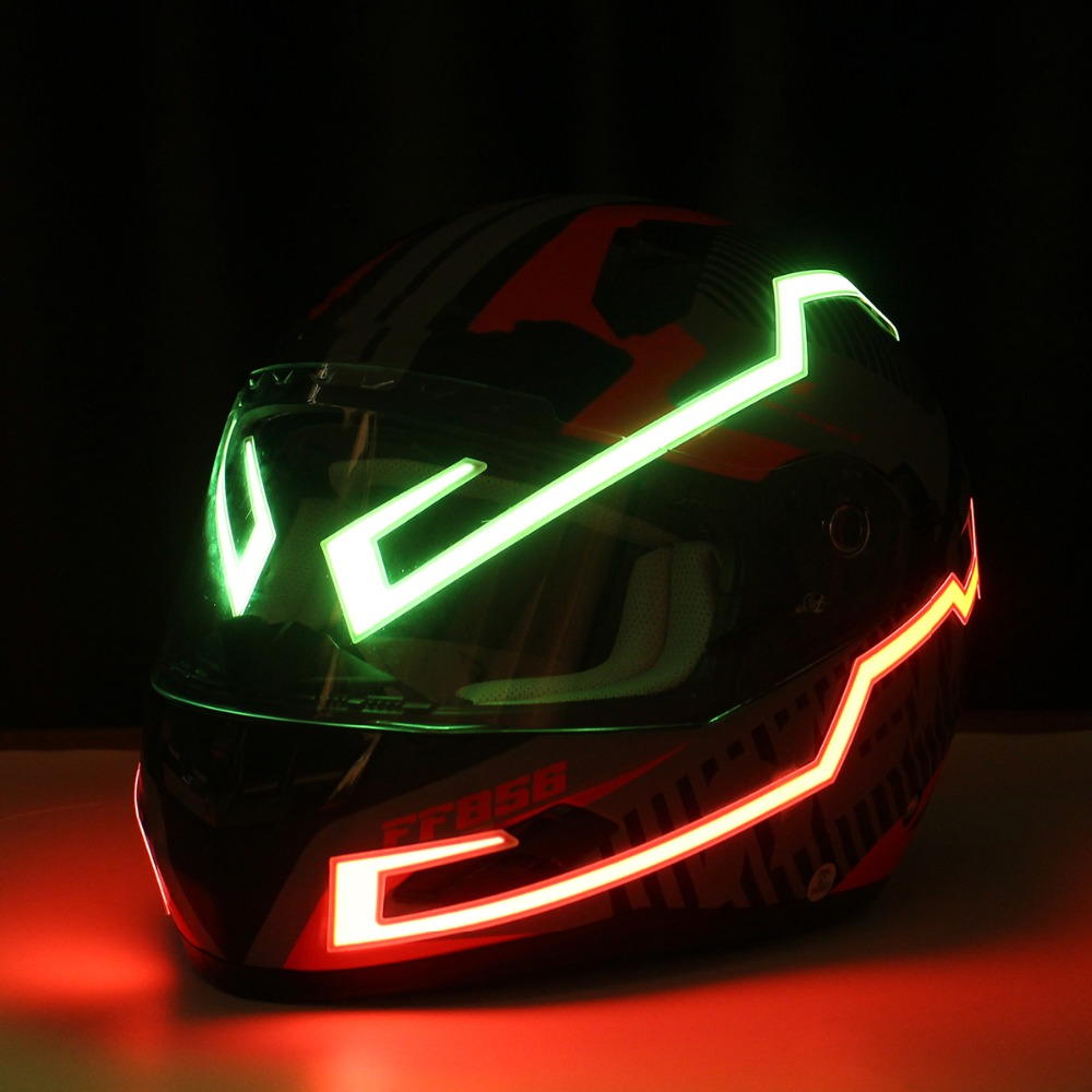 Rechargable Version Motorcycle Helmet EL Light Strip Night Signal Modified Glowing Bars Sticker