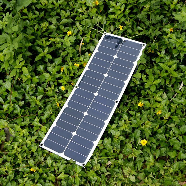 Elfeland® SP-13 40W 18V Flexible Mono Solar Panel For Camping Boat Caravans Battery Charger