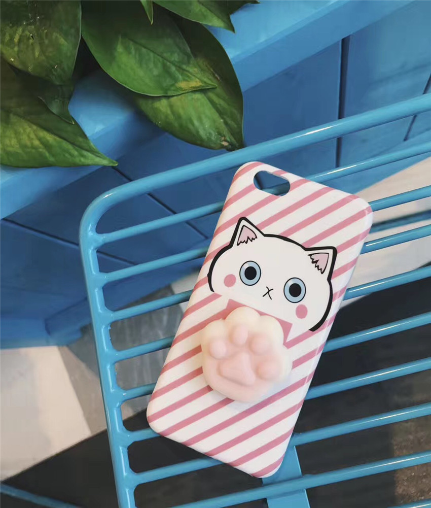 Bakeey™ Cartoon 3D Squishy Squeeze Slow Rising Cat Claws Protective Case for iPhone 7/8/7Plus/8Plus