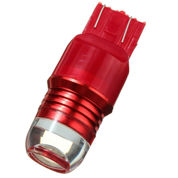 6W LED Red Strobe Flashing Light 7443 1157 Projector Bulb For Car Brake Tail Lamp