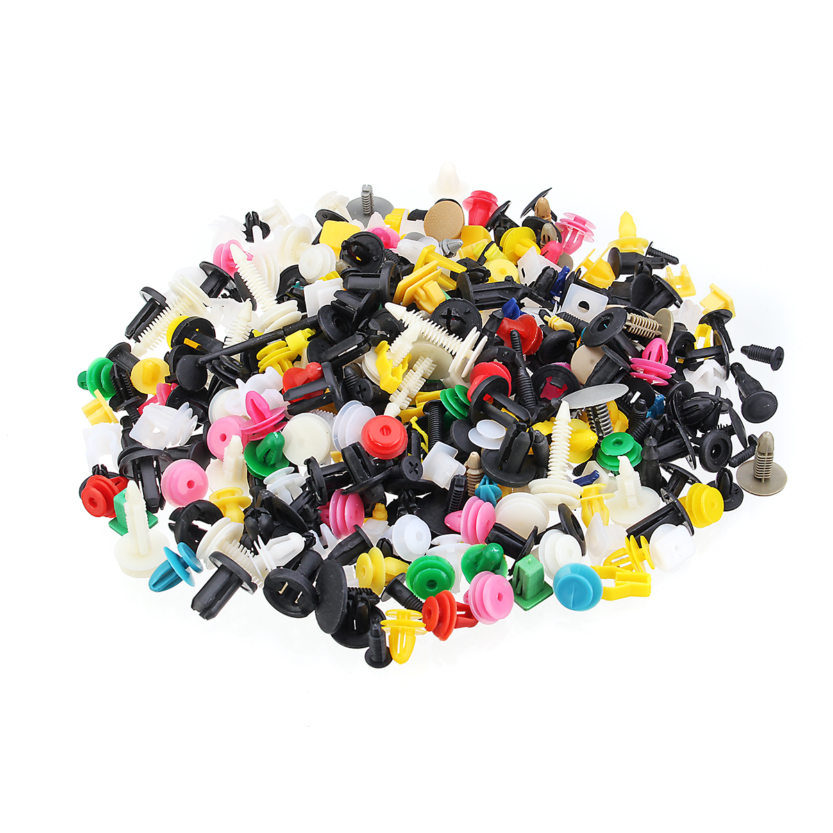 500Pcs Mixed Plastic Car Fastener Clip Bumper Fender Trim Kit Rivet Door Panel
