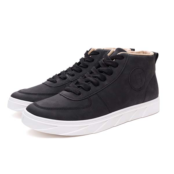 New Men Sneakers PU High Top Lace Up Casual Outdoor Daily Shoes