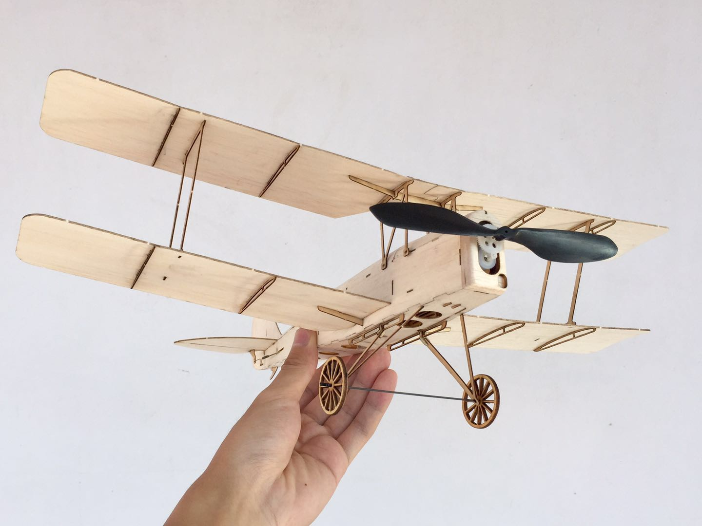 MinimumRC Tiger Moth Biplane 400mm Wingspan Balsa Wood Laser Cut RC Airplane KIT