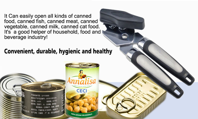 Stainless Steel Manual Can Opener Multifunctional Black Tin Bottle Opener Kitchen Tools