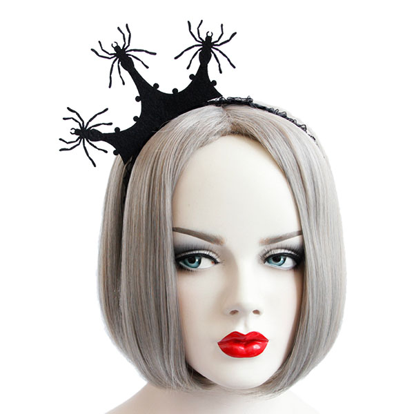Halloween Party Princess Spider Crown Hairwear Toys Vintage Girl Tiara Fashion Lace Mesh Hair Bands