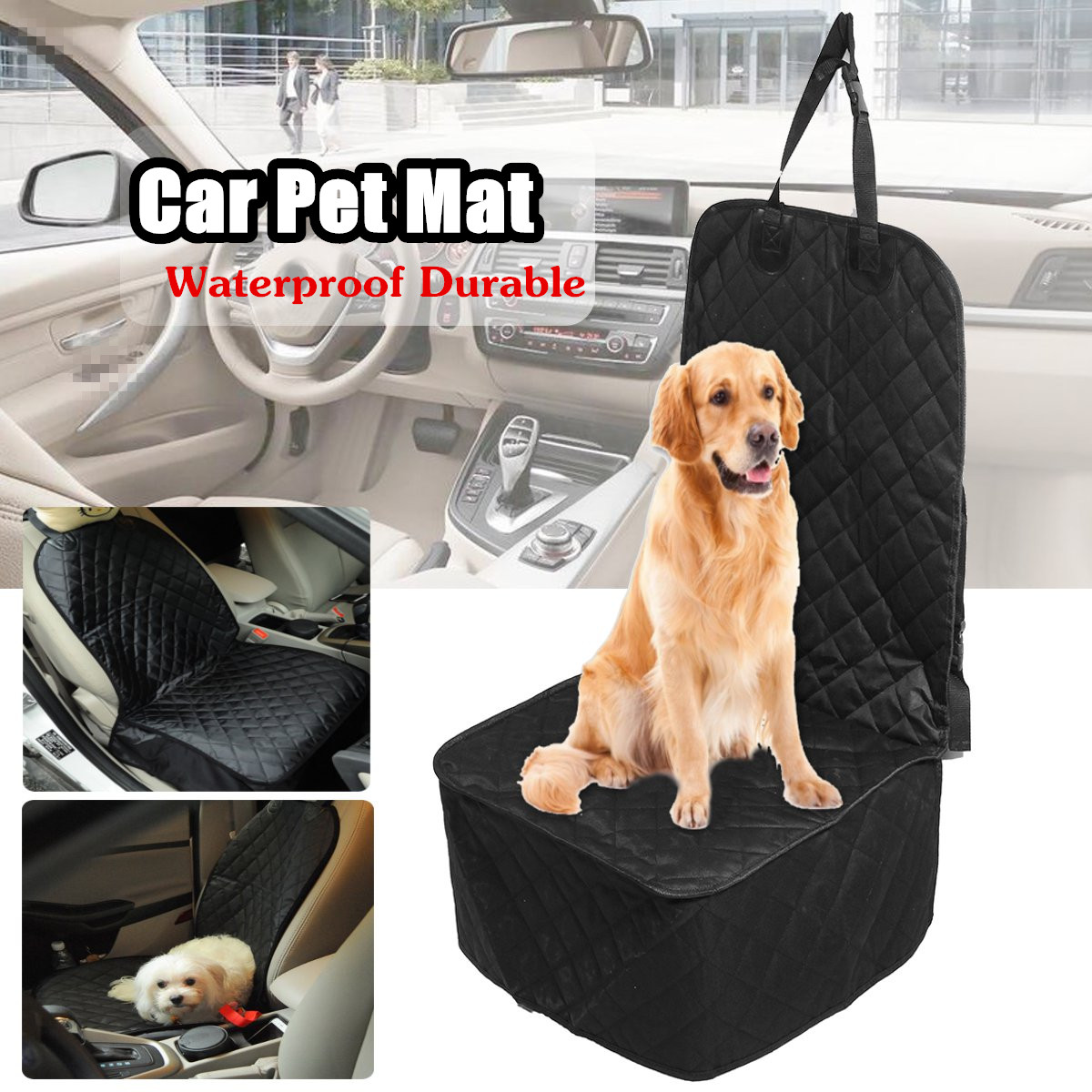 Waterproof Pet Dog Car Front Seat Cover Protector Liner Seats Covers Cushion Mat