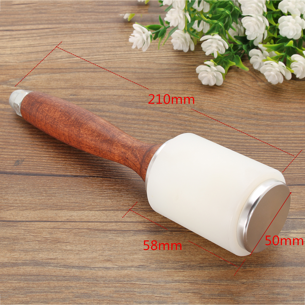 Wooden Handle Leather Nylon Carving Hammer Calico Carving Tool DIY Handle Craft