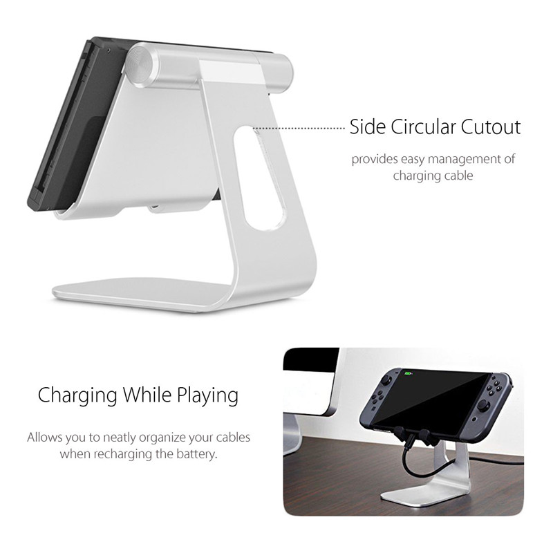 Universal Aluminum Alloy 270 Degree Adjustable Desktop Charging Holder Stand for Mobile Phone Tablet