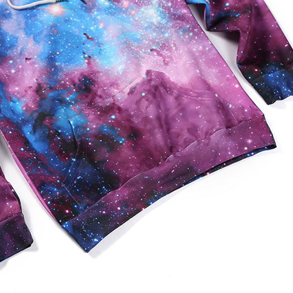 Mens 3D Star Printing Sweatshirt Fashion Colorful Casual Pullover Hoodies