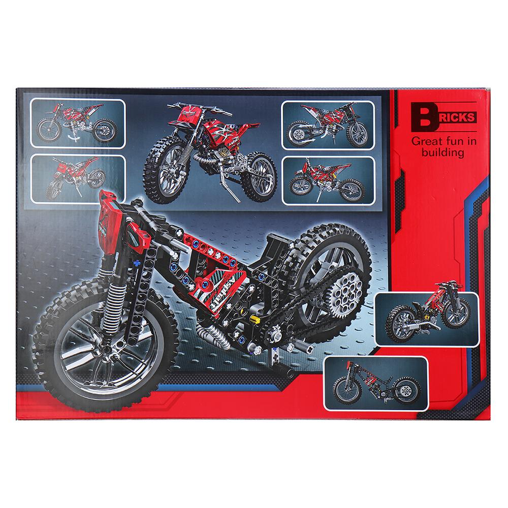 Decool Technic City Moto Cross Bike With Box Building Blocks Toys Bricks Classic Model Kids Toy Children Gift