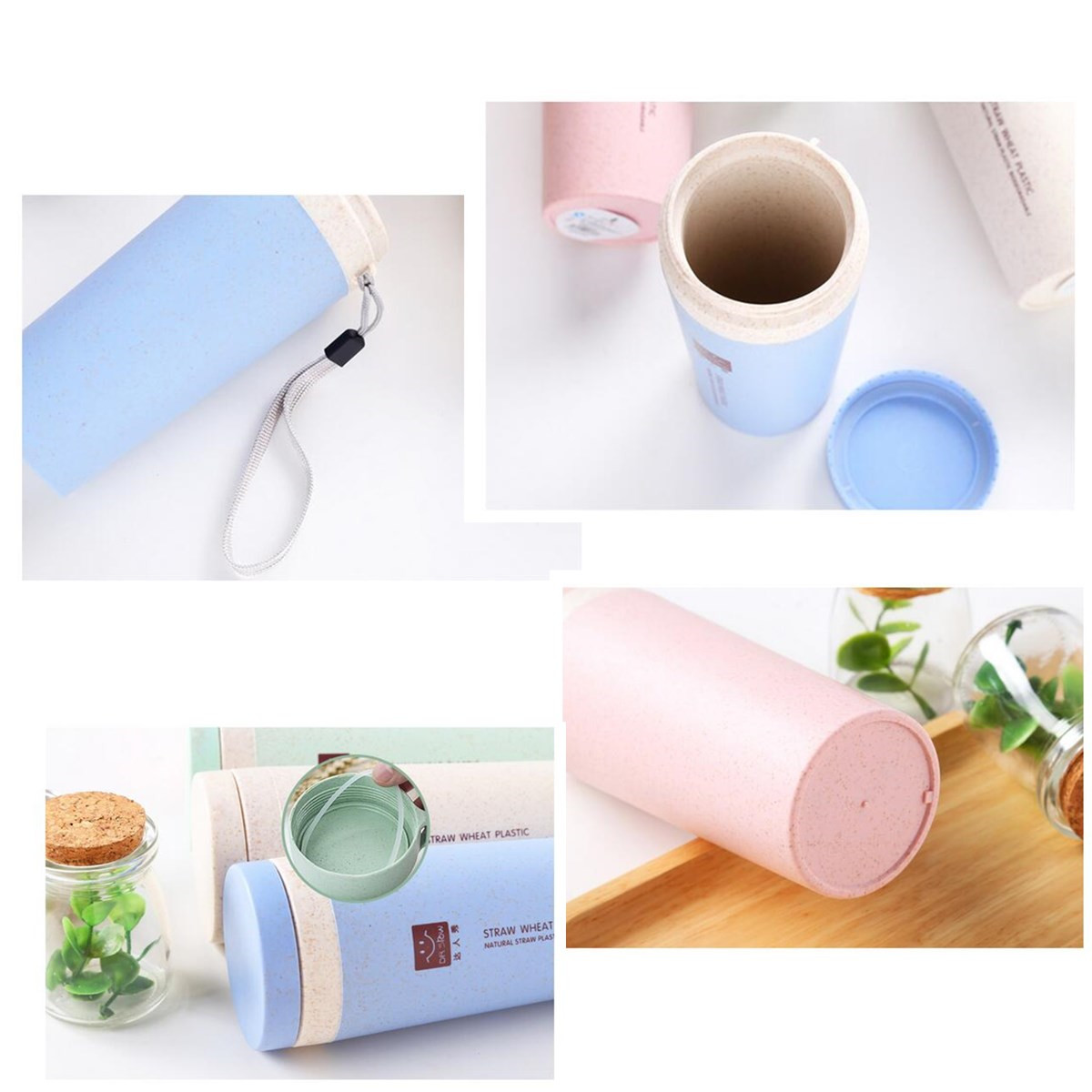 Portable 300ML Creative Travel Thermos Vacuum Cup Insulation Water Bottle 6 Hours