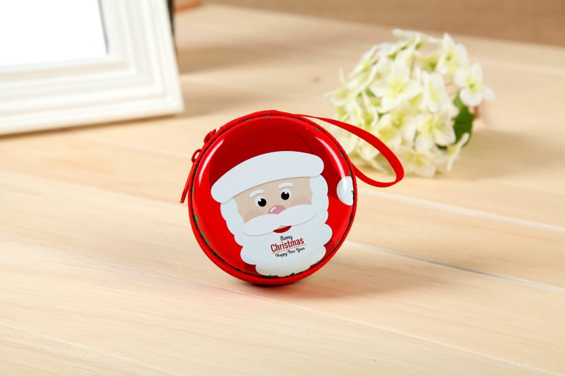 Universal Chrismas Multi-function Portable Earphone USB Cable U Flash Disk Storage Box Case Bag